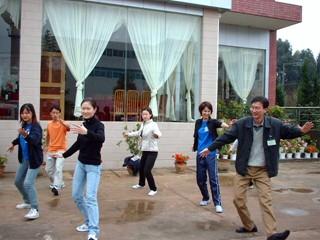 2002中国団太極拳での交流