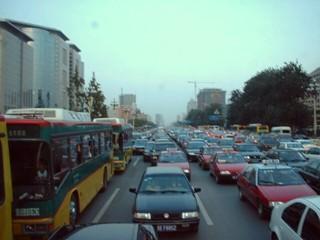 2002中国団長安街の渋滞