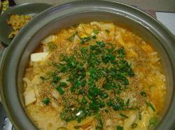 キムチと豆腐の韓国風おじや