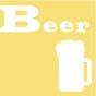 ビールのつまみアイコン黄色