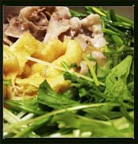 豚バラ肉と水菜の美酒鍋風画像