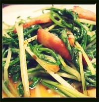 水菜とペーコンのニンニク醤油炒め画像