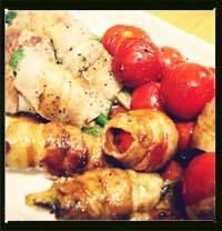 夏野菜豚バラ肉巻き