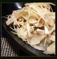 豚バラ肉と白髪ネギの塩味ナムル画像