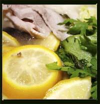 豚バラ肉と白菜と大根のゆず鍋画像