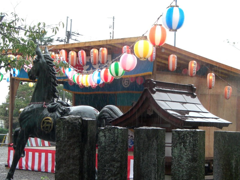 西条市 石鎚神社秋まつり 10月5日 神社内にて