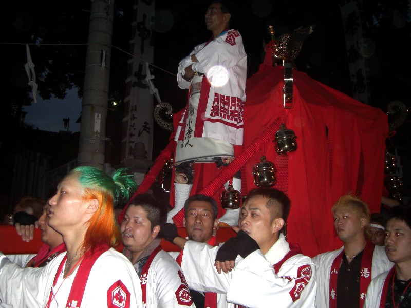 松山祭り 湯神社 宮出し