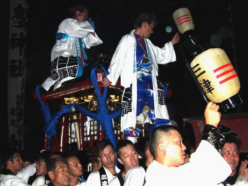 松山祭り 厳島神社 けんかみこし