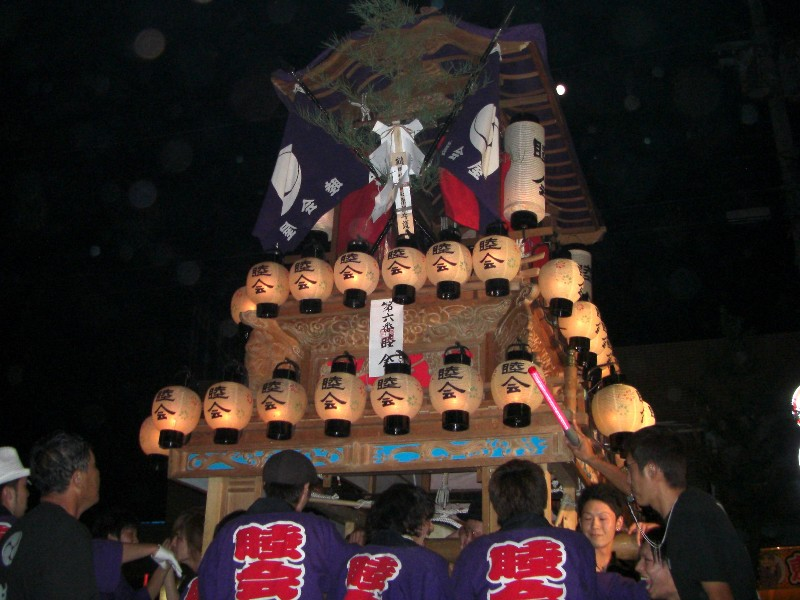 東予秋祭り 壬生川駅前通り