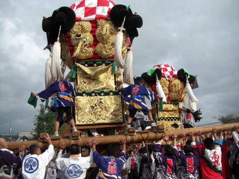 西条祭り 嘉母神社 宮入 上組