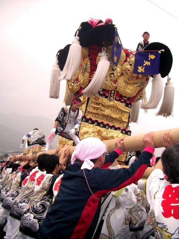 土居秋まつり 関川河川敷