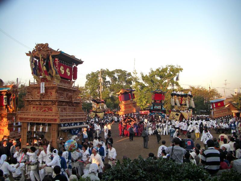 西条祭り 石岡神社 桜の馬場 だんじり