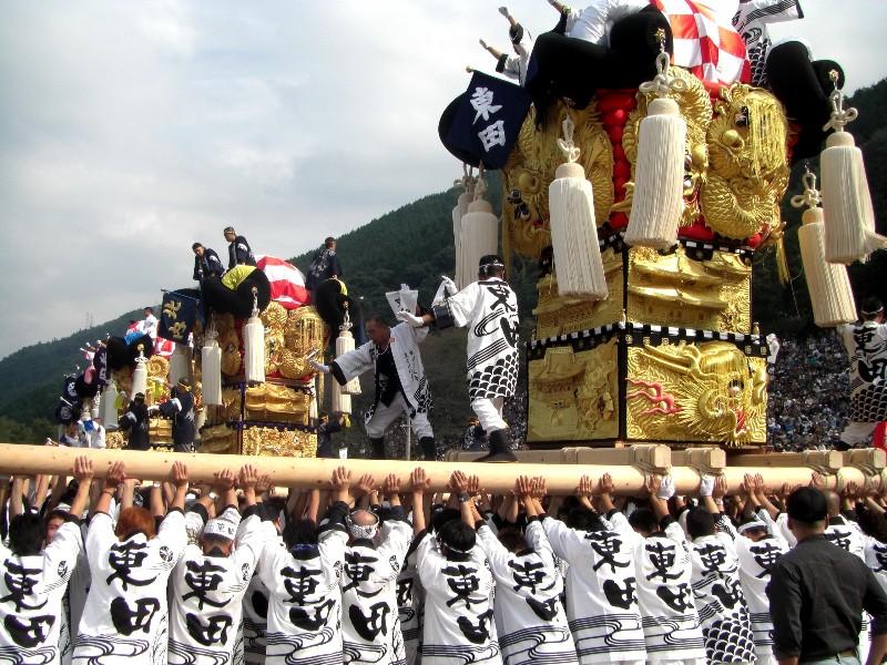 新居浜太鼓祭り 山根グラウンド 統一寄せ