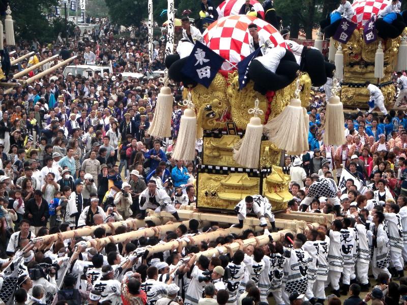 新居浜太鼓祭り 山根グラウンド 統一寄せ 東田太鼓台