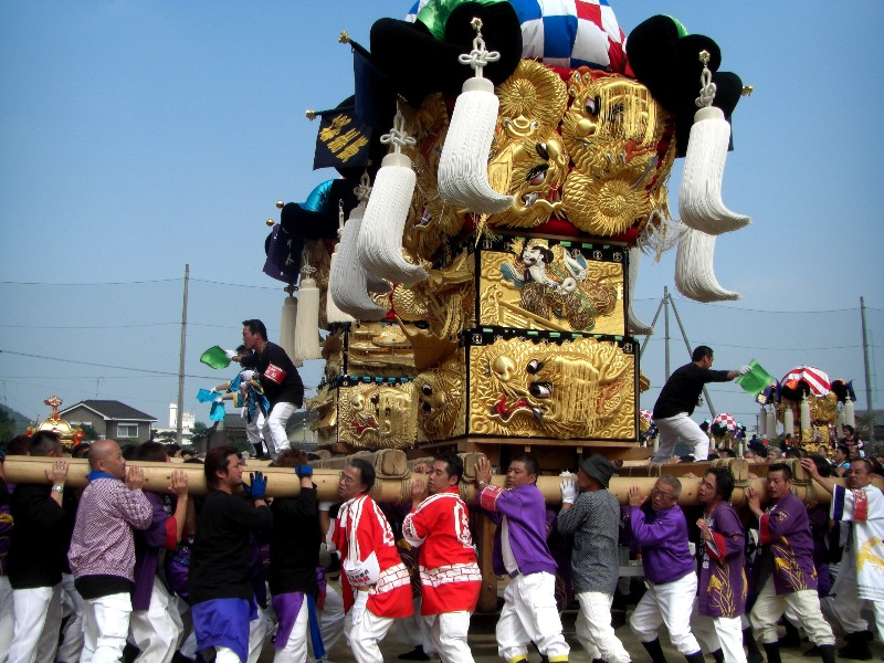 新居浜太鼓祭り 中萩小学校 統一寄せ