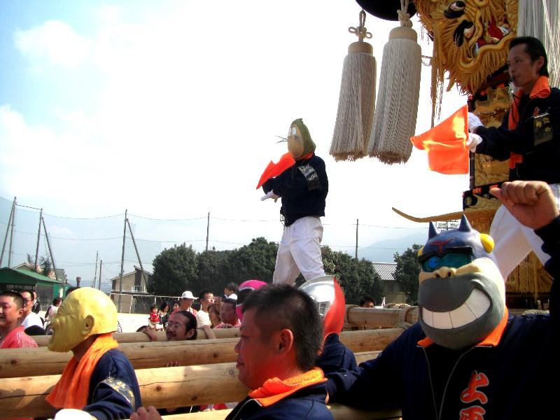 新居浜太鼓祭り 中萩地区統一寄せ 上原太鼓台