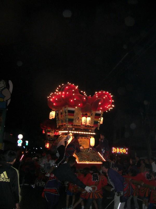 伊予三島秋祭り 氏祭り 夜太鼓