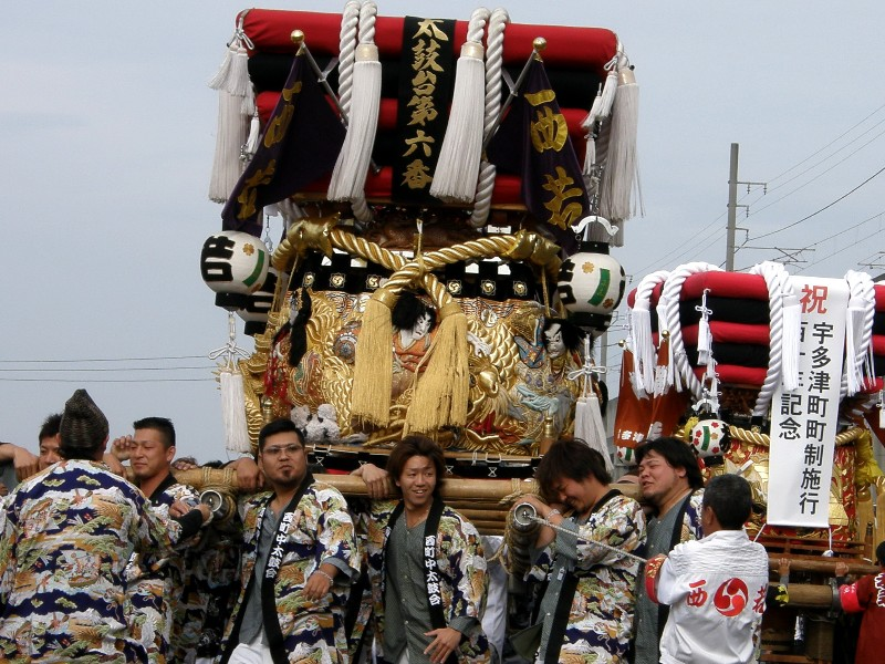 宇多津太鼓祭り 全体垣上げ