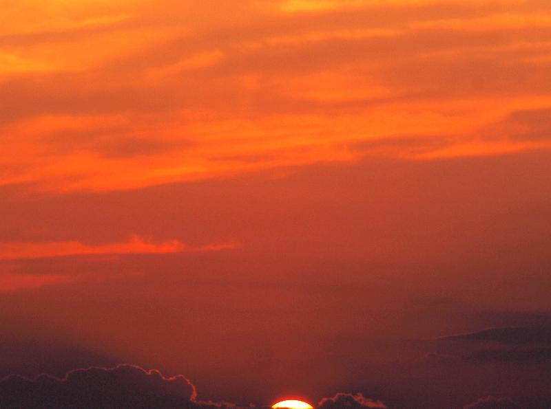 今治市 大西町 鴨池海岸 夕日