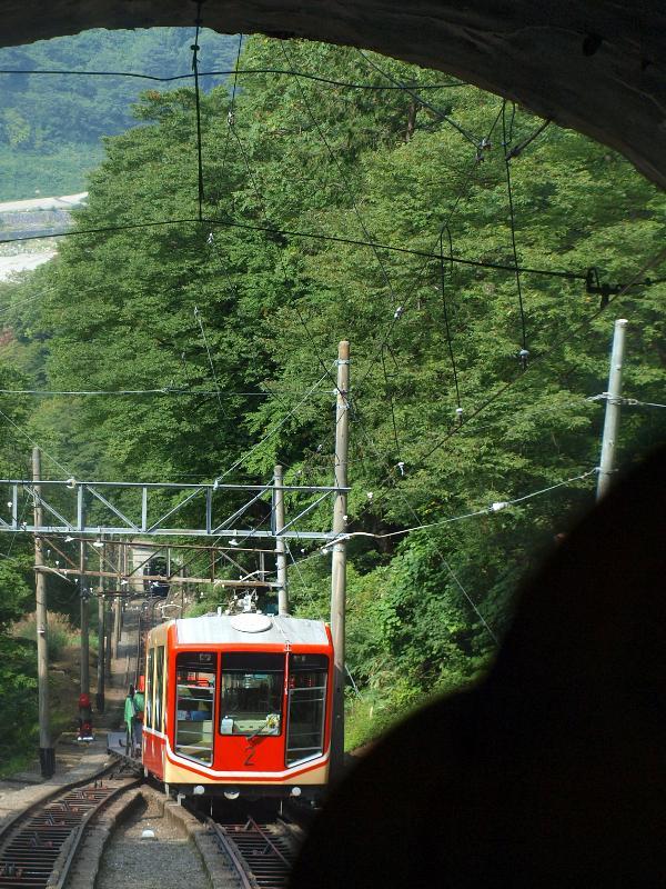 立山ケーブルカー 車窓からの風景