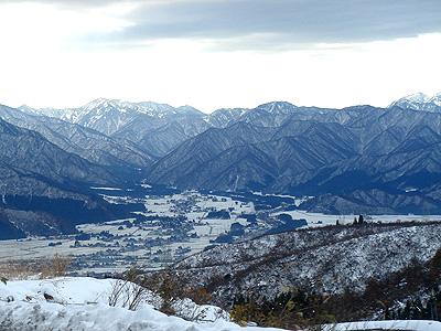 師走の山々