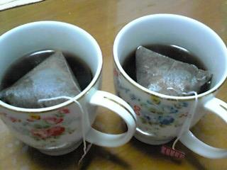 ティーパックのコーヒー