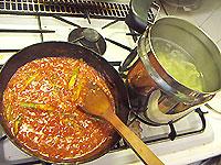 トマトソースのフェトチーネ