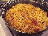 トマトとキャベツのスパゲティ