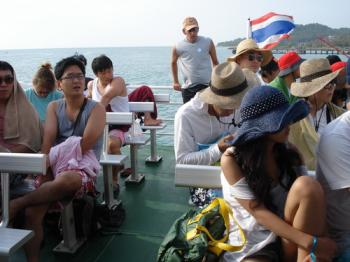 サムイ島の天気 船!