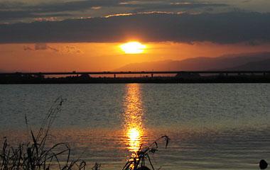 吉野川の夕日1