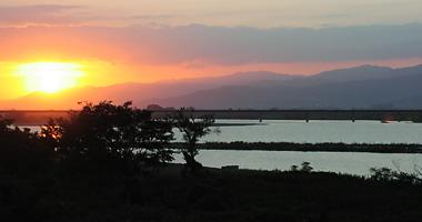吉野川の夕日2