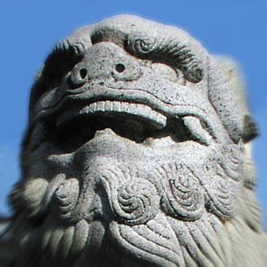 白鳥神社狛犬「あ」