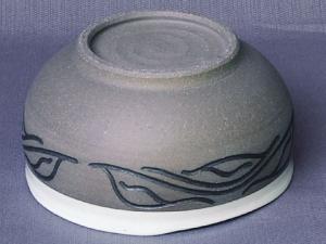 刻彩深鉢(高台)