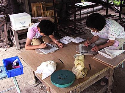 親子で陶芸体験2