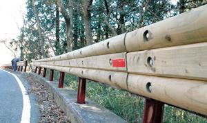 木製ガードレール