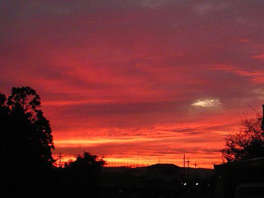 奈良の夕焼け