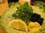 炭火焼湯浅(白魚刺し その2)