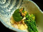 櫻川(筍と帆立と蛸の木の芽ソース掛け)