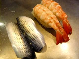 栄寿司(小鰭、海老)