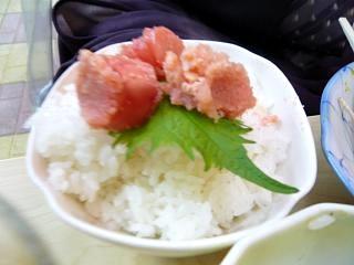 二毛作(めんたいこご飯)