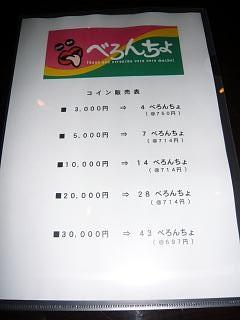 べろんちょ(メニュー 1P)
