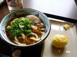 丸亀製麺(カレーうどん、玉子天)