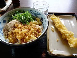 丸亀製麺(ぶっかけ、イカ天)