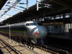 初代新幹線・岡山駅
