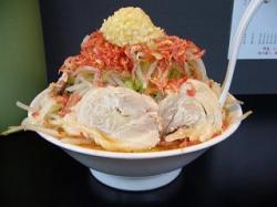 麺僧 曽文(大ラーメン桜エビ横から)