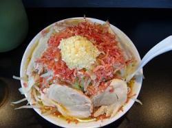 麺僧 曽文(大ラーメン桜エビ上から)