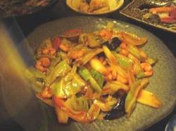 焼き物やイート(海老と葱の炒め物)
