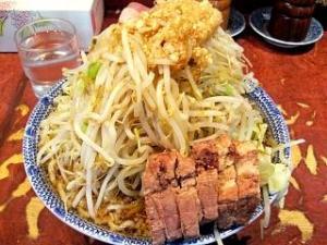 暖々(大ラーメン野菜少し多めカラメニンニク全体1)