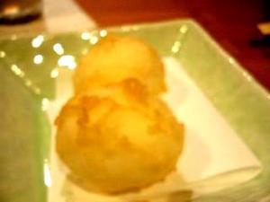 かがり火(卵の天ぷら)