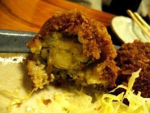 三平(牡蛎フライ割った)